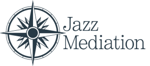 jazz mediation logo with a compass
